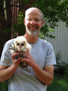 Scott Rashid with Barn Owl